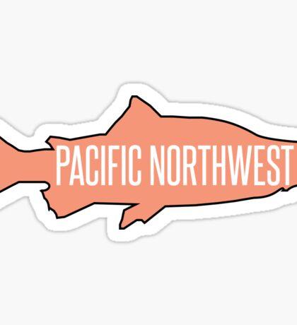 PNW Salmon Fish Sticker