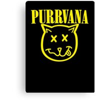 Purrvana Cat Parody Canvas Print