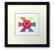 Bernie Sanders - Feel The Bern (Wow Rainbow) Framed Print