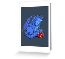 D20 Blue Dragon Greeting Card