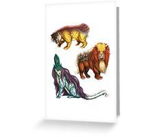 Legendary Beasts Greeting Card