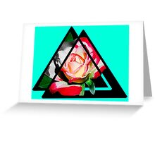 abstract rose digital painting Greeting Card