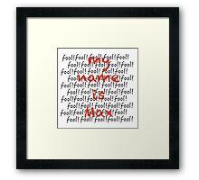 MAX / FOOL Framed Print