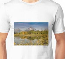 The Tetons and Fall Colors Unisex T-Shirt