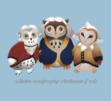 A Parliament of Owls! Kids Tee