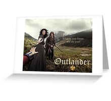 Outlander poster/Jamie & Claire Greeting Card