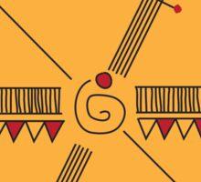 The Indian handmade design Sticker