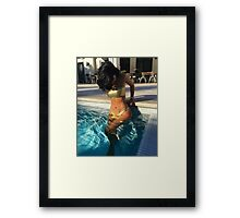 Kylie Pool Framed Print