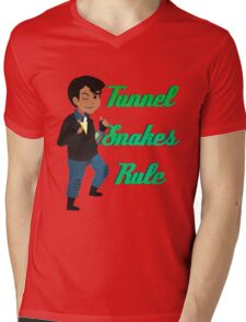 TUNNEL SNAKES RULE! Mens V-Neck T-Shirt