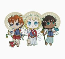 Chibi Archangels Kids Tee