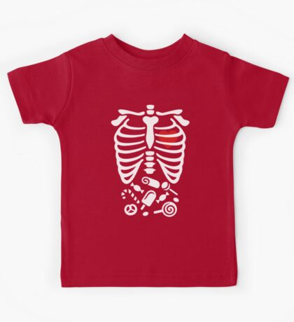 Scary Halloween X-Ray costume Kids Tee