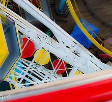 Top of the Carousel Santa Monica Pier by guinapora