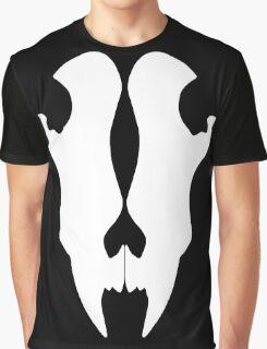 Wolf Skull White Version Graphic T-Shirt