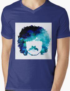 Burton Cummings Blue Abstract Mens V-Neck T-Shirt