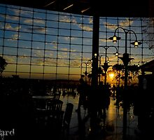 Seattle Airport Sunset by guinapora