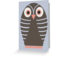 STRIPED OWL Greeting Card
