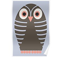 STRIPED OWL Poster