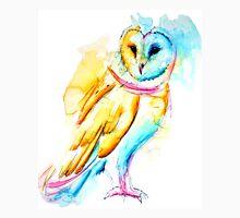 Snow Owl Watercolor Unisex T-Shirt