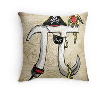 Pirate Pi Day Throw Pillow