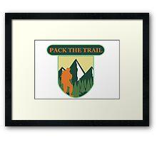 nomad trail Framed Print