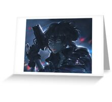 Ghost in the shell.  Greeting Card