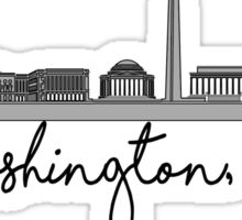 Washington DC skyline Sticker