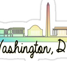 DC rainbow  Sticker