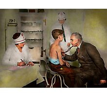 Doctor - At the pediatricians office 1925 Photographic Print