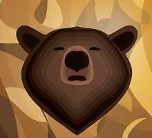 Camouflage gradient bear selfie by thejoyker1986