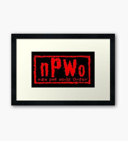 New Pod World Order Framed Print