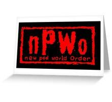 New Pod World Order Greeting Card