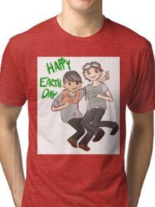 The 100 Jasper Monty 'Happy Earth Day' Tri-blend T-Shirt