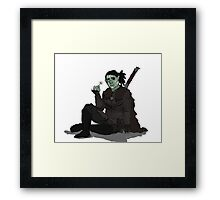 SKYRIM ORC WITH FLOWER Framed Print