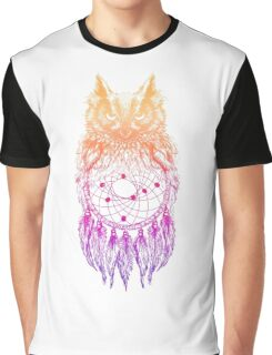 Dreamy Owl_Multi Pink Graphic T-Shirt