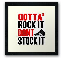 Gotta Rock It - Black Metallica 5 Framed Print