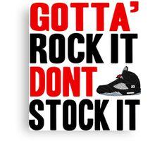Gotta Rock It - Black Metallica 5 Canvas Print