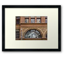 The old Simpsons window Framed Print