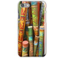 Hand Painted Rain Sticks iPhone Case/Skin