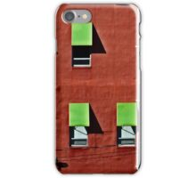 Wall in Red and Green iPhone Case/Skin
