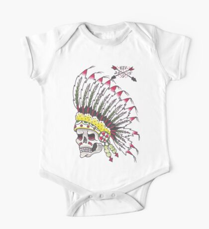 Indian Chief Skull One Piece - Short Sleeve