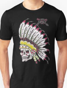 Indian Chief Skull Unisex T-Shirt