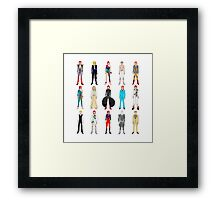 Outfits of Bowie Fashion Framed Print