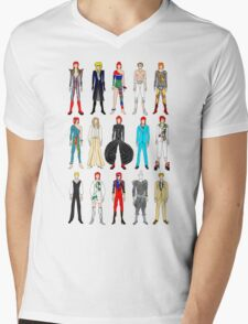 Outfits of Bowie Fashion Mens V-Neck T-Shirt
