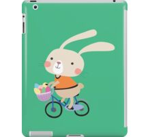 Holidays Easter Bunny on Bicycle With Eggs iPad Case/Skin