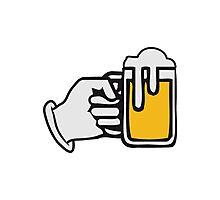 drinking beer booze handle hand Photographic Print