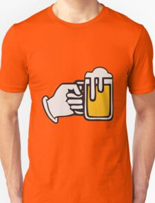 drinking beer booze handle hand Unisex T-Shirt