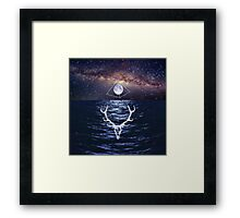 INTO THE MILKY NIGHT Framed Print