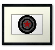 Winter Soldier Shield Framed Print