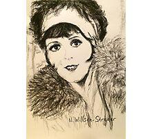 Clara, Scarf and Fur Photographic Print