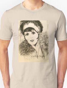 Clara, Scarf and Fur Unisex T-Shirt